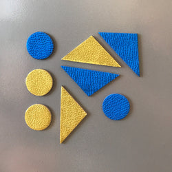 Let's Stick Together Magnets | Blue Gold Triangles-SMENA