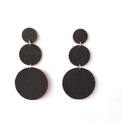 Amaya Earrings | Black Perforated