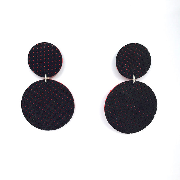 Aria Earrings | Black Perforated