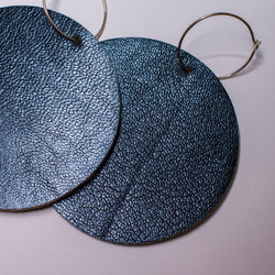 Full Moon Earrings Large | Metallic Navy-SMENA