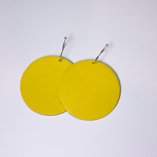 Full Moon Earrings Large | Yellow-SMENA