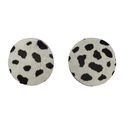 Twinny Earrings | Black white dot-SMENA