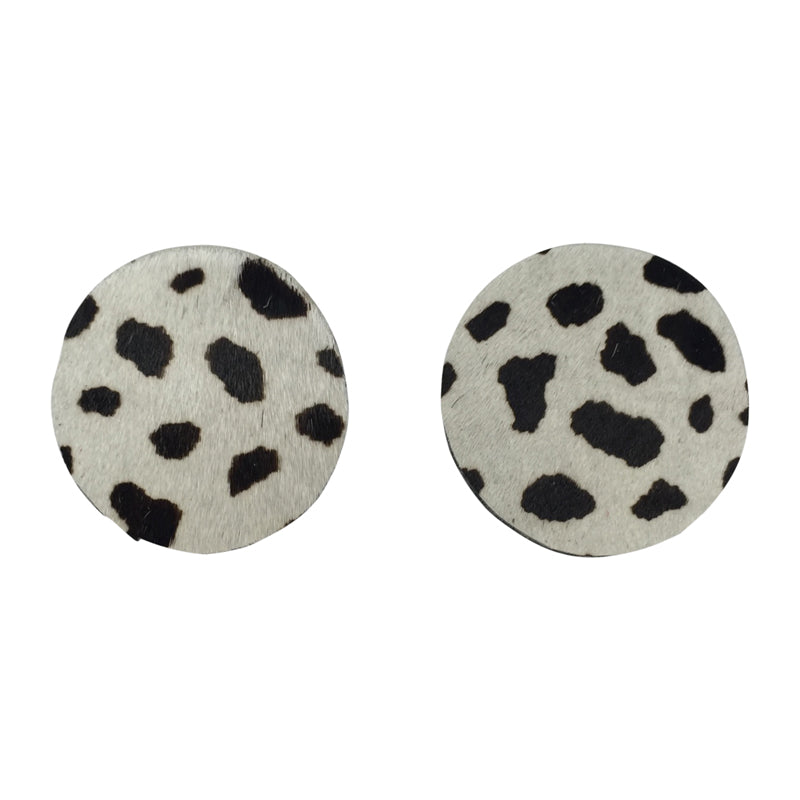 Twinny Earrings | Black white dot