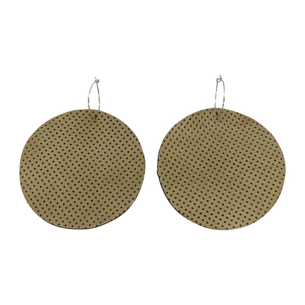 Full Moon Earrings Large | Bone Perforated-SMENA