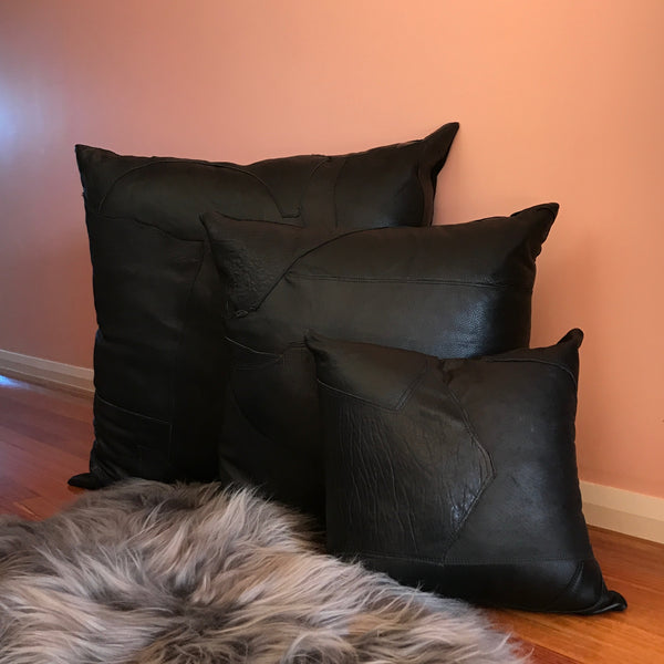 Zero Waste Floor Cushion 80cm | Black