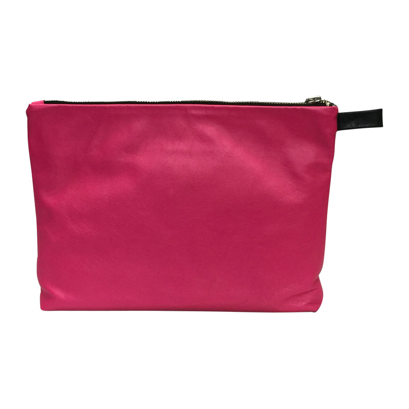 Multi Clutch | Hot Pink Zig Zag