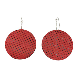 Full Moon Earrings Small | Red Perforated