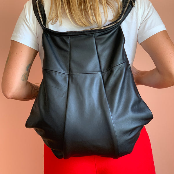 Balon Backpack/Cross body bag | Black