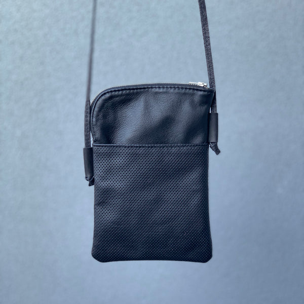 Silna | Mini Bag | Black Perforated