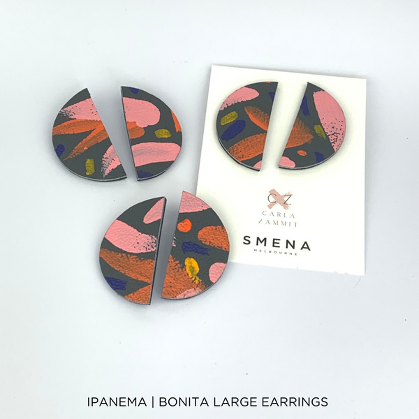 SMENA X CZxo | BONITA EARRINGS LARGE | 6 PAINTING DESIGNS