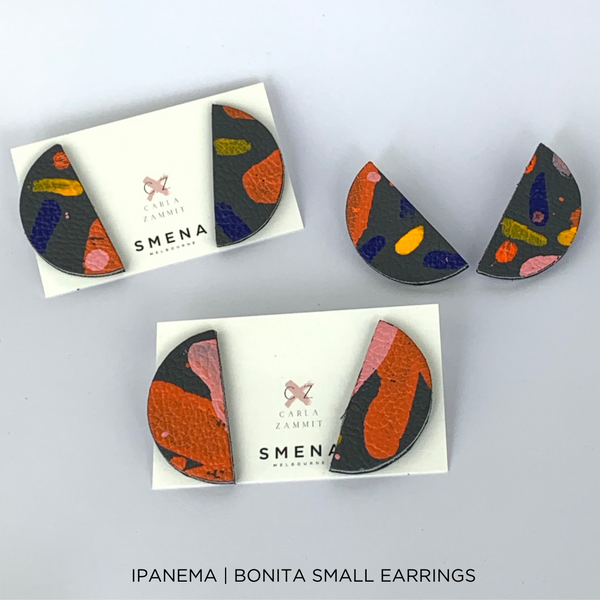 SMENA X CZxo | BONITA EARRINGS SMALL | 6 PAINTING DESIGNS