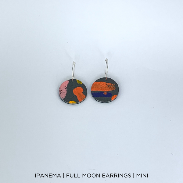 SMENA X CZxo | FULL MOON MINI EARRINGS | 6 PAINTING DESIGNS