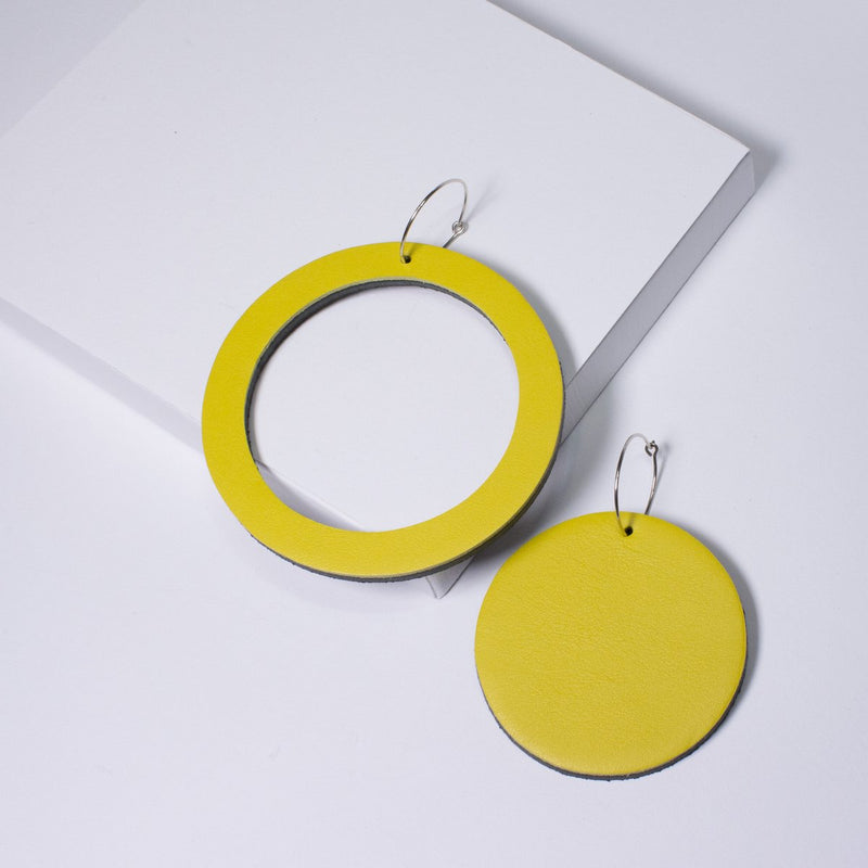 Geo Circle Earrings | Assorted colours available