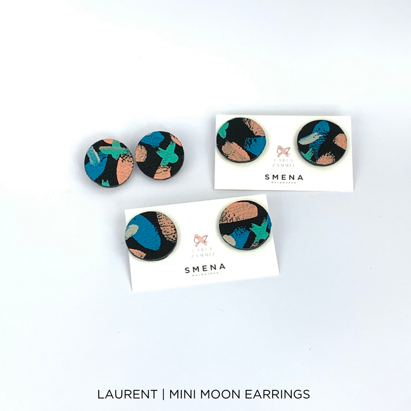 SMENA X CZxo | MINI MOON EARRINGS | 6 PAINTING DESIGNS