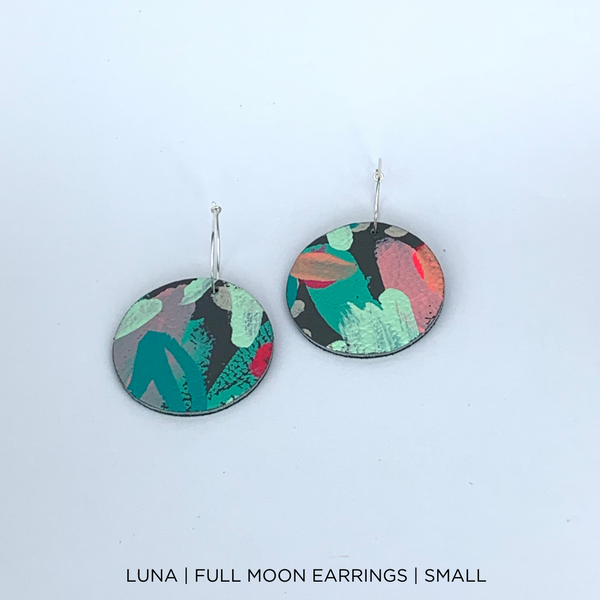 SMENA X CZxo | FULL MOON SMALL EARRINGS | 6 PAINTING DESIGNS