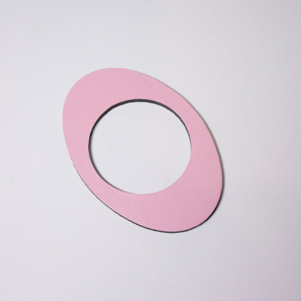 Geo Oval Bangle | Pale Pink-SMENA