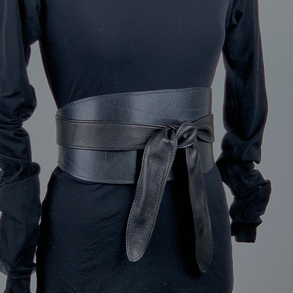 REMEN Wide Wrap Belt | Black