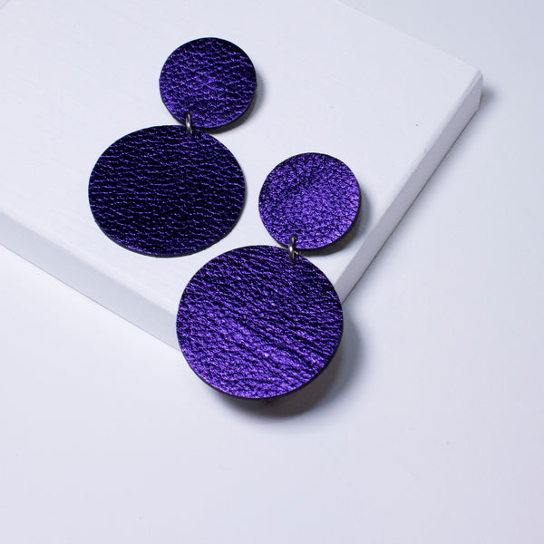 Aria Earrings | Metallic Purple