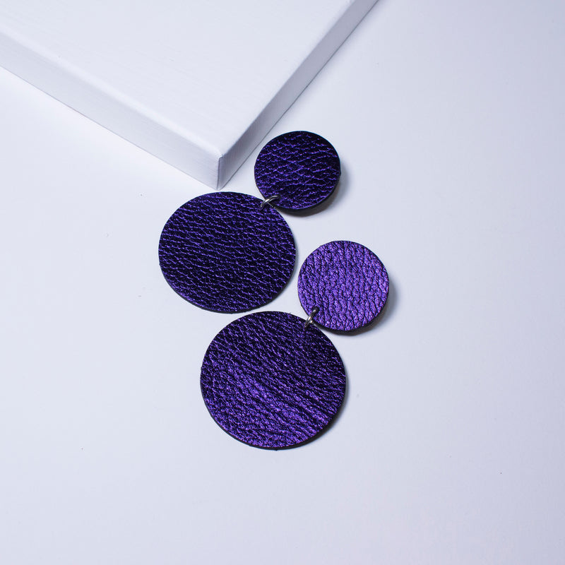 Aria Earrings | Metallic Purple-SMENA