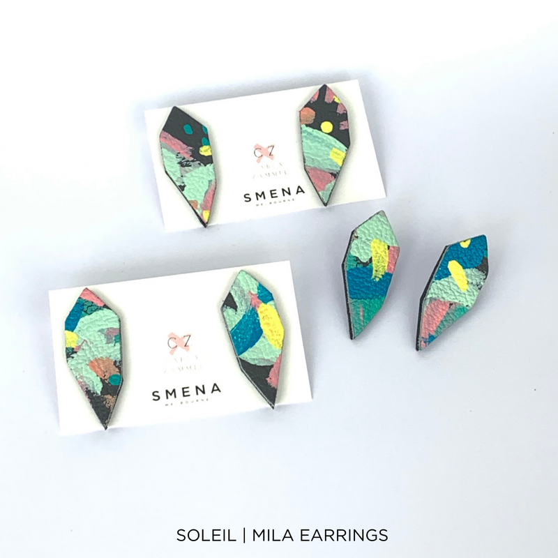SMENA X CZxo | MILA EARRINGS | 6 PAINTING DESIGNS
