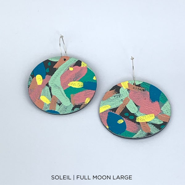 SMENA X CZxo | FULL MOON LARGE EARRINGS | 6 PAINTING DESIGNS