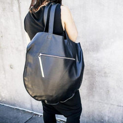 Full Moon Rising Tote Bag Large | Black-SMENA