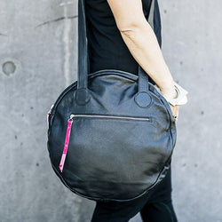 Full Moon Bag Medium | Black-SMENA