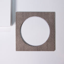 Geo Square Bangle | Pewter-SMENA