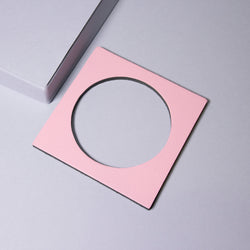 Geo Square Bangle | Pale Pink-SMENA