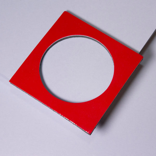 Geo Square Bangle | Red-SMENA