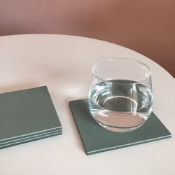 Let's Drink | Square Coaster Set | Sage-SMENA