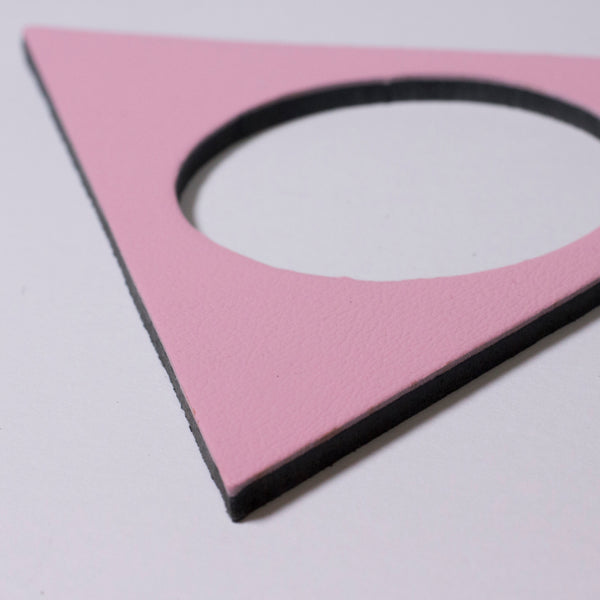 Geo Triangle Bangle | Pale Pink