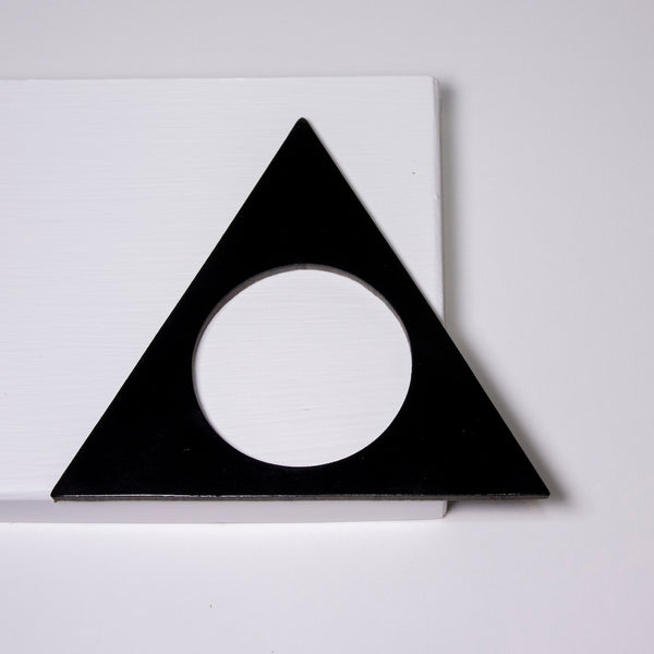 Geo Triangle Bangle | Black-SMENA
