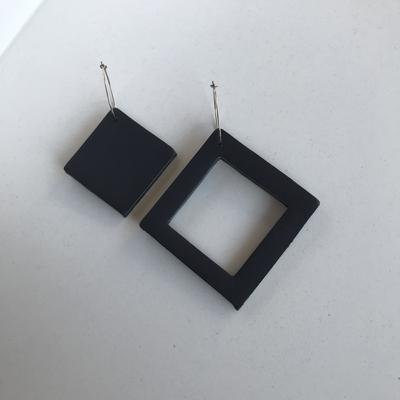 Geo Mini Square Earrings | Assorted Colours available