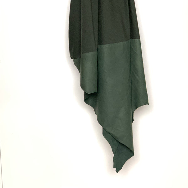 RAW Leather Merino Scarf | Olive Green