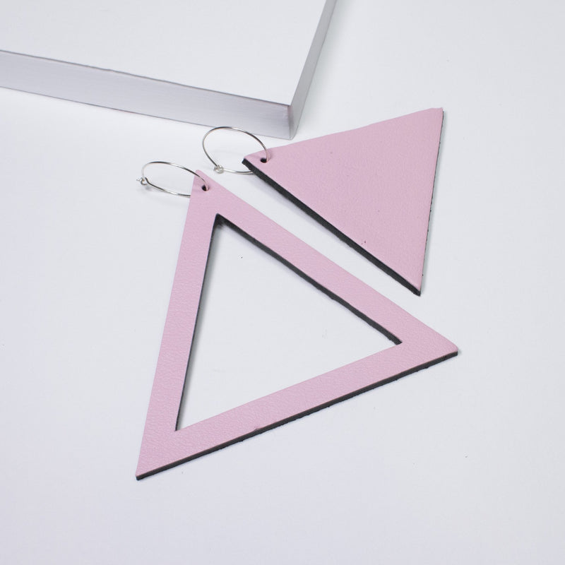 Geo Triangle Earrings | Assorted Colours Available