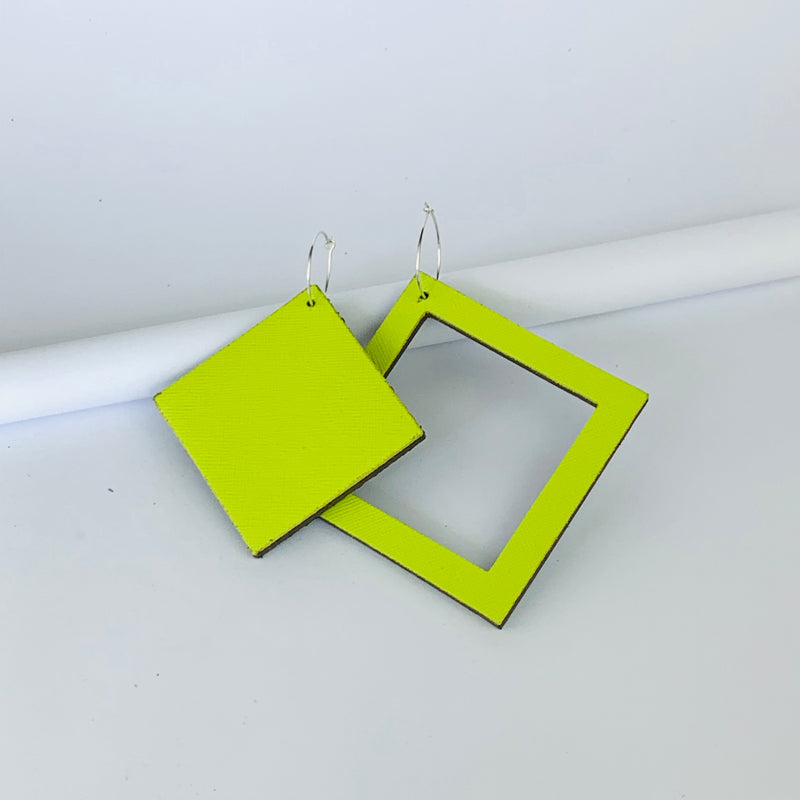 Geo Square Earrings | Assorted Colours available