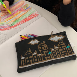 Doma20 | Utility Purse | Hand-painted Houses 6 of 6