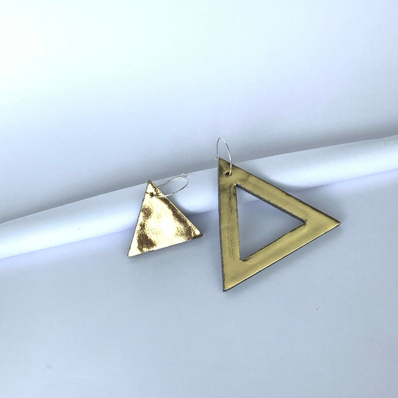 Geo Mini Triangle Earrings | Assorted Colours available