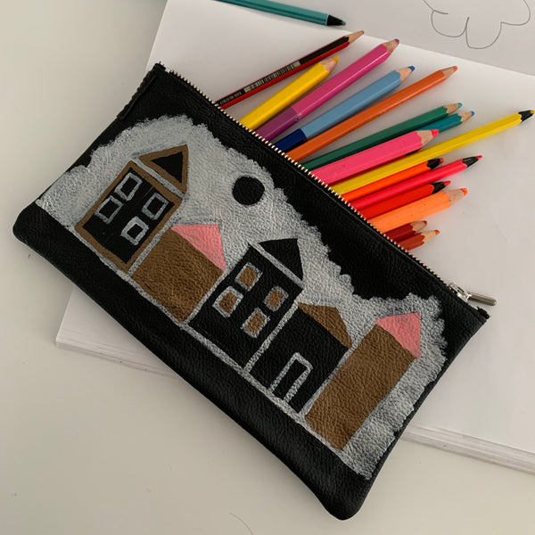 Doma20 | Utility Purse | Hand-painted Houses 1 of 6