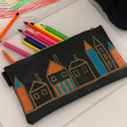 Doma20 | Utility Purse | Hand-painted Houses 5 of 6