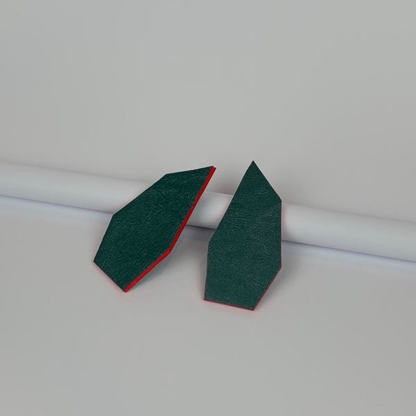 Milina Earrings | Moss Green