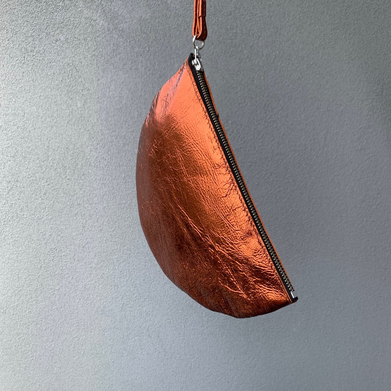 STALNO Half Moon Clutch | Metallic Copper