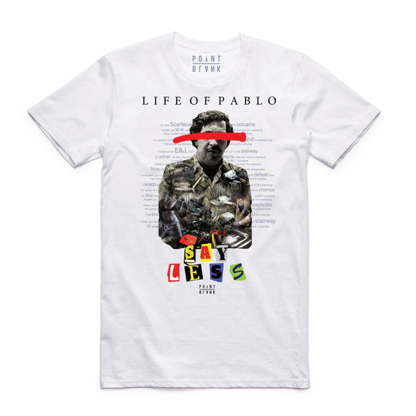 Point Blank Life of Pablo White Men T-Shirt 100987-1031