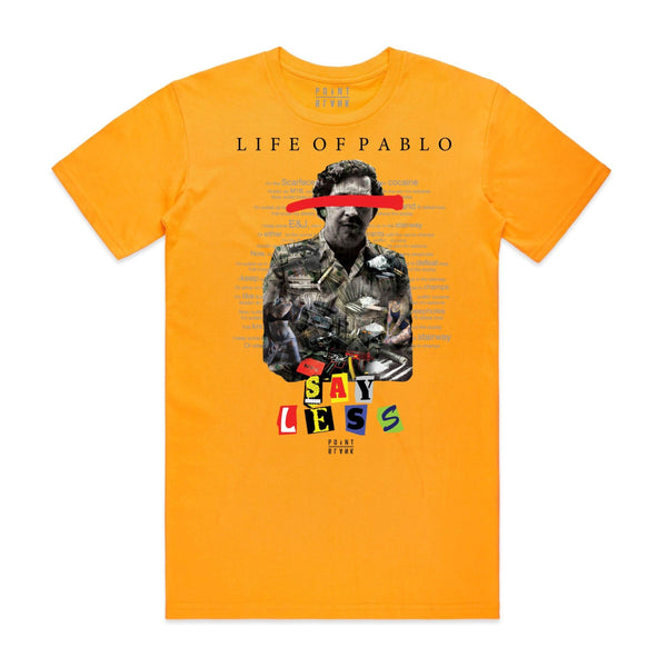 Point Blank Life of Pablo Gold Men T-Shirt 100987