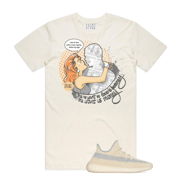 Point Blank True Love Yeezy Linen Natural Men T-Shirt 100987-784