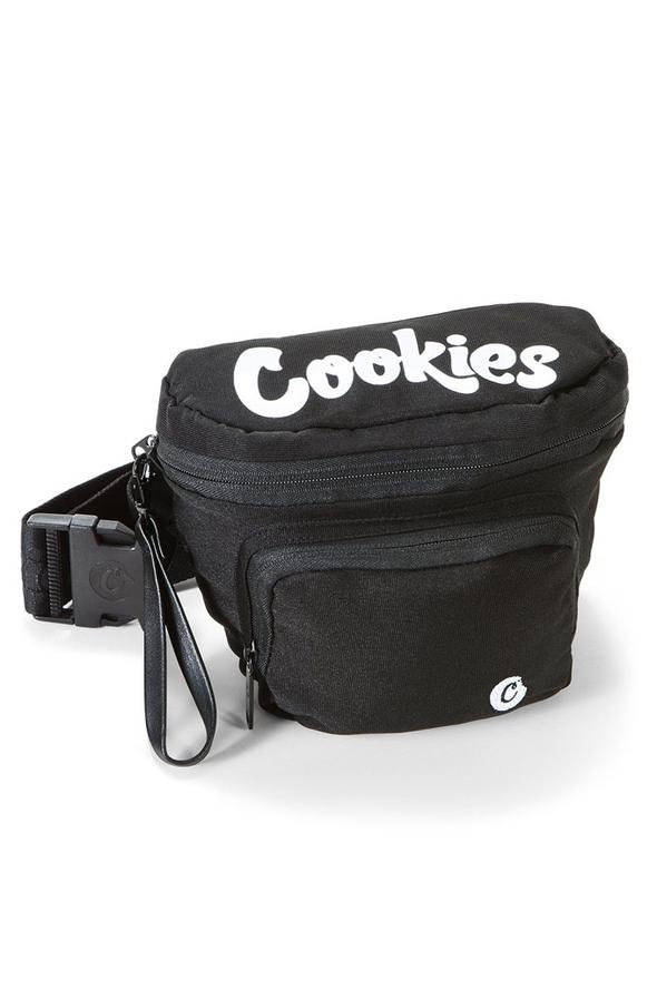 Cookies Smell Proof Environmental Nylon Fanny Pack Black Men Bags 1548A4625