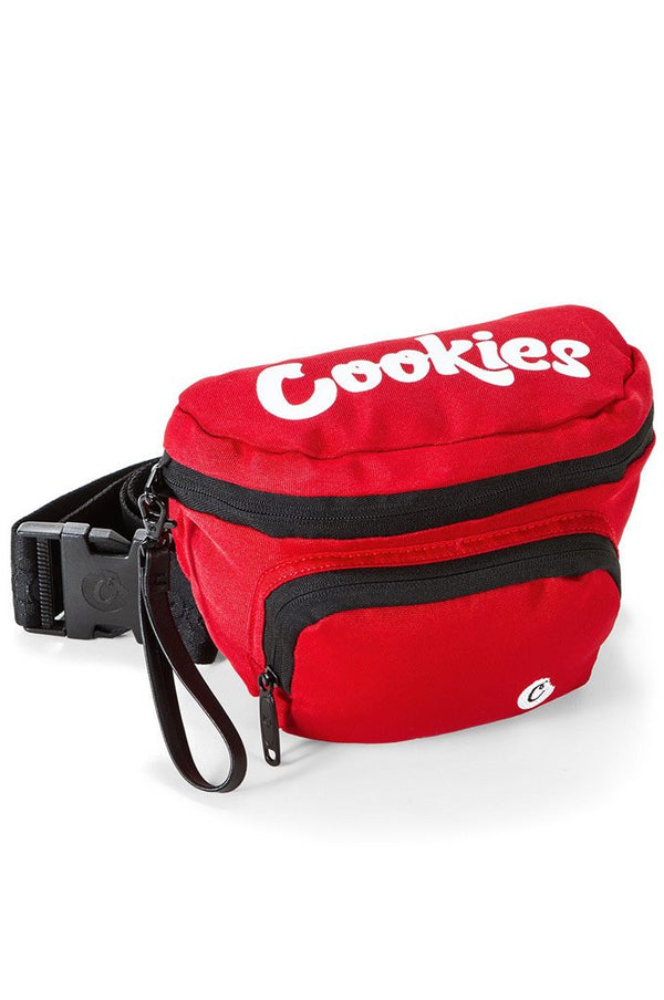 Cookies Smell Proof Environmental Nylon Fanny Pack Red Men Bags 1548A4625