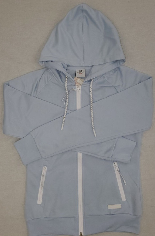 Southpole Tech Fleece Sky Blue Women Zip Up Hoodie Sweatshirt 18323-1518