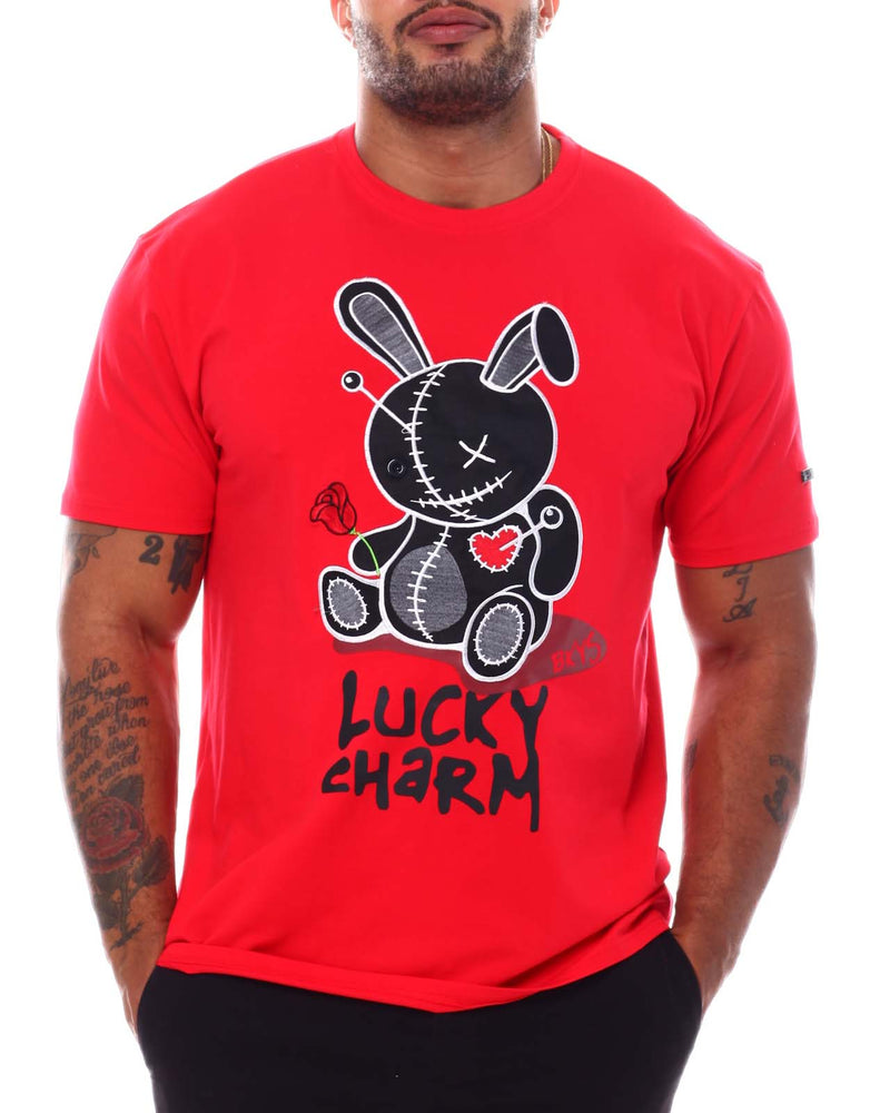Bkys Lucky Charm Red Black Men T-Shirt T934
